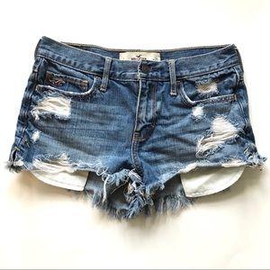 Hollister women's jean shorts distressed sz1/25
